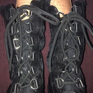 COACH New York lace up boot